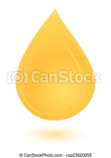 csepp, sárga, olaj - csp23620958