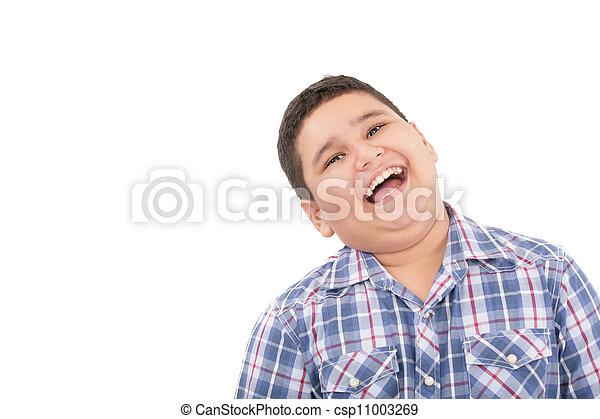 csinos, kicsi fiú, nevető, portré, boldog - csp11003269