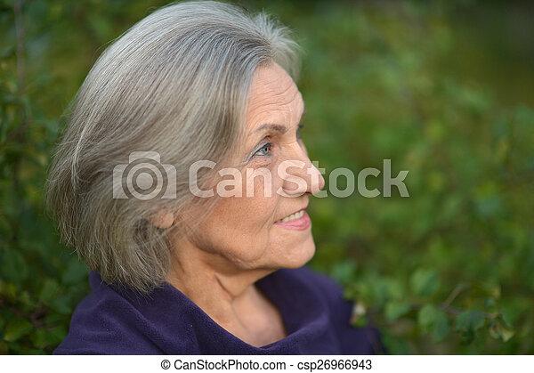 csinos, nő, öregedő - csp26966943