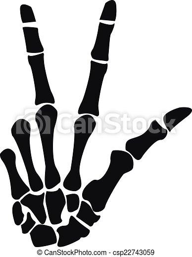 Csontváz kéz rajz