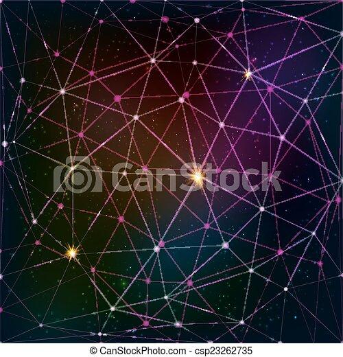 Rejilla triangular abstracta de fondo cósmico - csp23262735