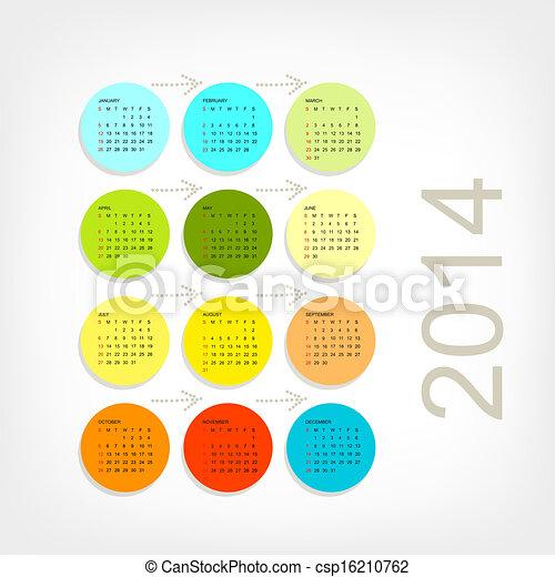 Red de calendario 2014 para tu diseño - csp16210762
