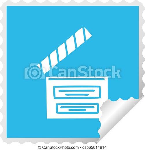 El director de dibujos animados de raya cuadrada - csp65814914