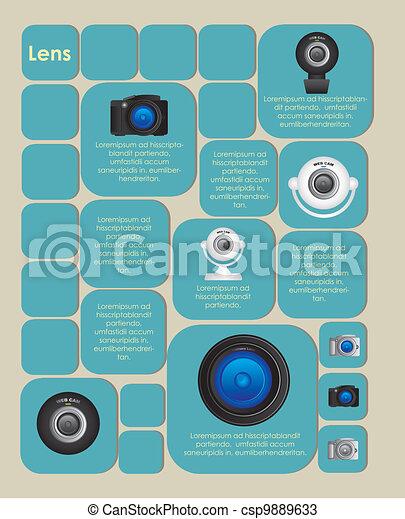 Marca cuadrada con cámaras - csp9889633