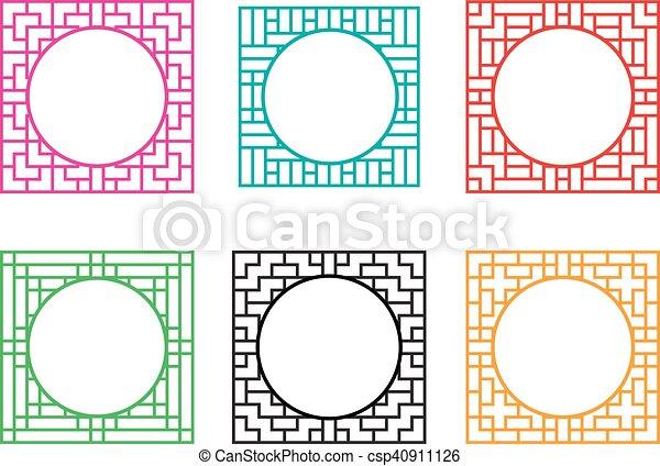 Cuadrado, centro, marco, ventana, círculo, agujero. Centro, cuadrado ...