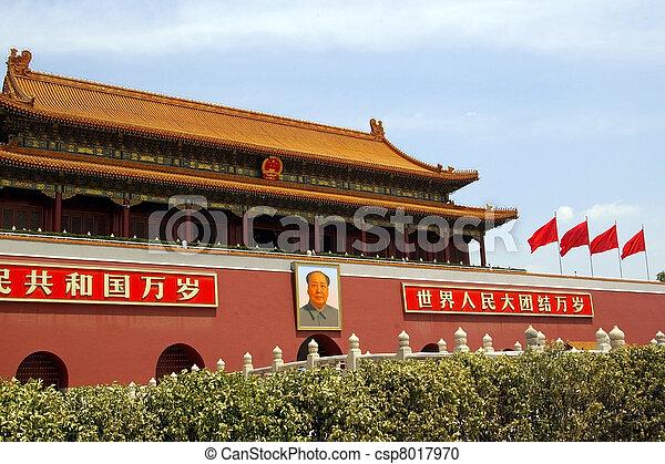 Tiananmen Square en Beijing, China - csp8017970