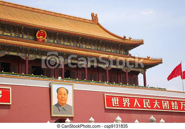Plaza Tiananmen en Beijing, China. - csp9131835