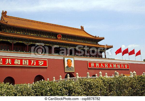 Plaza Tiananmen en Beijing, China - csp8878782