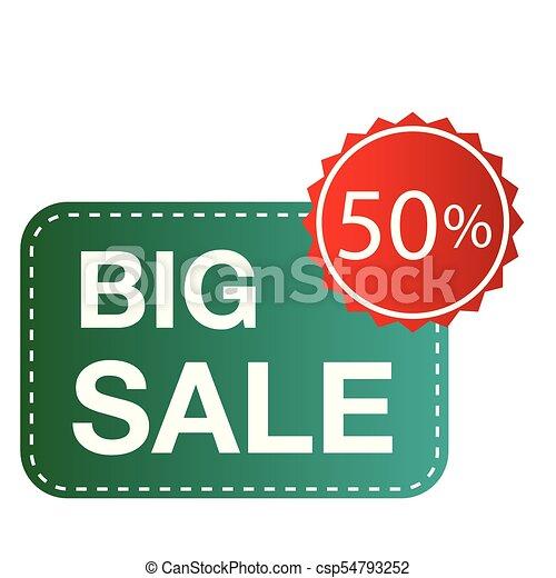 Banner gran venta 50% cuadrado de imagen vector - csp54793252