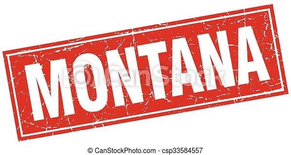 Un sello aislado de Montana - csp33584557
