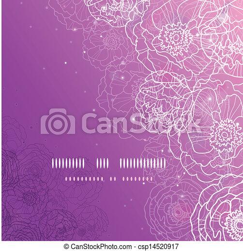 Flores púrpura brillando mágicamente cuadradas de fondo - csp14520917