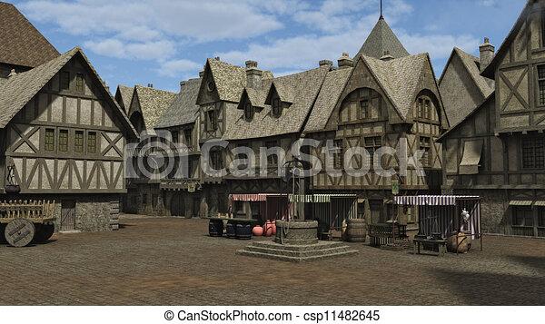 Plaza Medieval - csp11482645