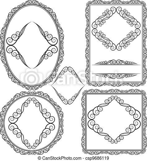 Frames - cuadrado, oval, rectangular, circular - csp9686119