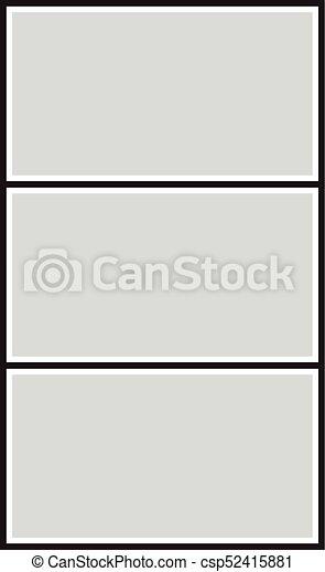Cuadros, marco de la foto, fotos, vector, collage, rompecabezas ...