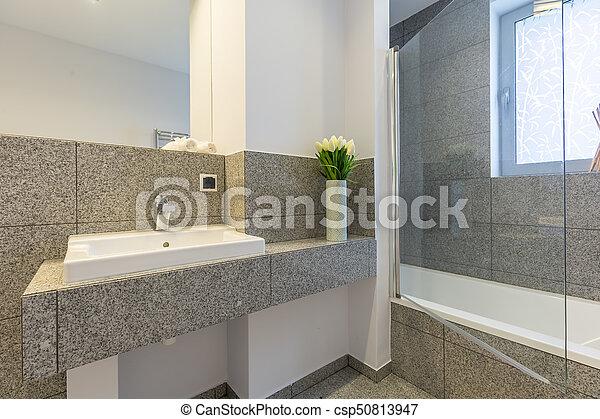 Cuarto de baño, azulejos, mármol. Cuarto de baño, moderno, azulejos ...