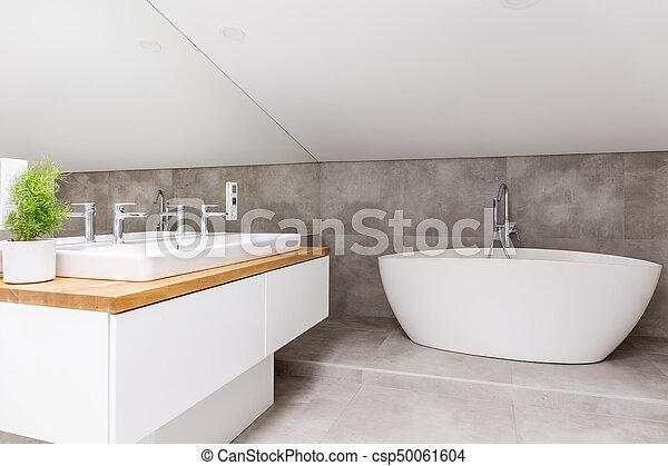 cuarto de baño, bañera, formado