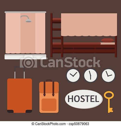 Cuarto de baño, habitación, areas., litera, hotel, presupuesto, cama ...