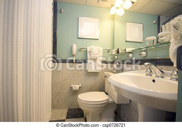 Cuarto de baño, hotel, lujo. Cuarto de baño, latín, viejo, san ...