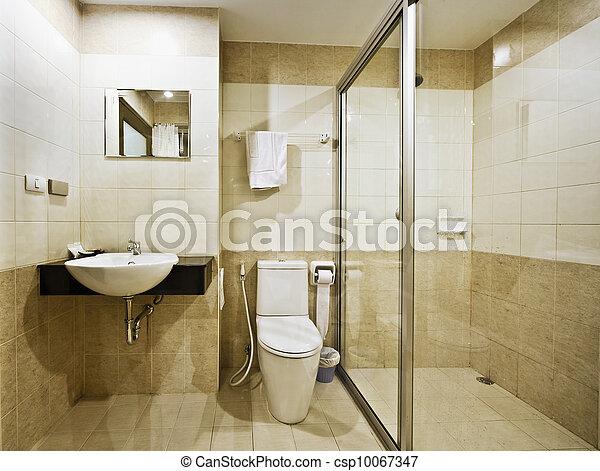 Cuarto de baño, hotel, presupuesto. Cuarto de baño, hotel,... foto ...
