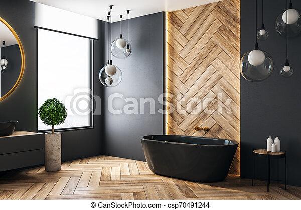 Cuarto de baño, lujo, copyspace. Ciudad, cuarto de baño ...