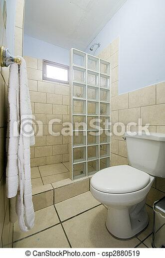 Cuarto de baño, moderno, central, san, precio, hotel, medio, del ...
