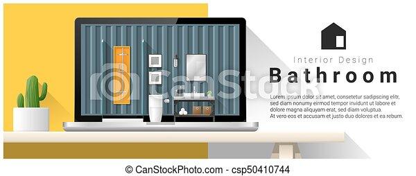 Diseño de interiores moderno de interiores 6 - csp50410744