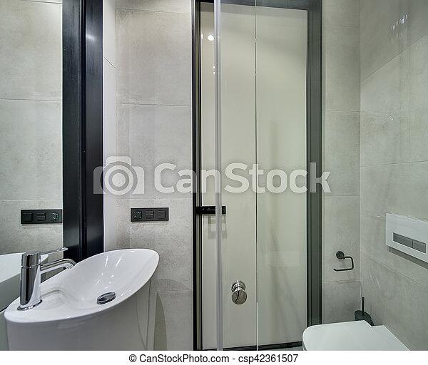 cuarto de baño, moderno, estilo