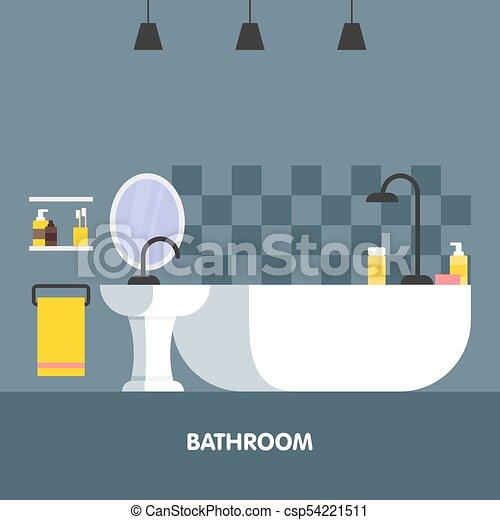 Icono de diseño de interiores moderno. Ilustración de vectores - csp54221511