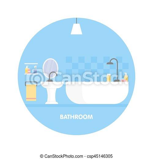 Icono de diseño de interiores moderno. Ilustración de vectores - csp45146305