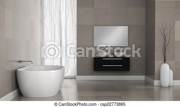 Cuarto de baño, moderno, interior, paredes, azulejo, granito.