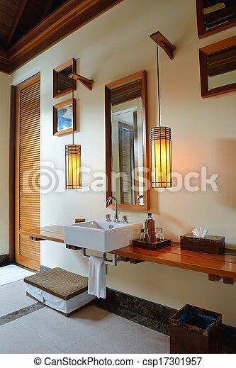 Baño moderno de lujo - csp17301957