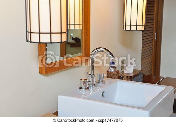 Baño moderno de lujo - csp17477075
