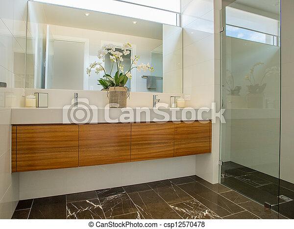 Baño moderno - csp12570478