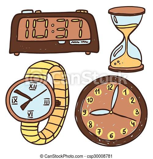 Cuatro aislado tipos relojes conjunto aislado cuatro - Tipos de relojes ...