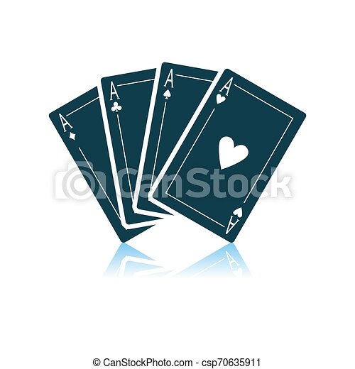 Un juego de iconos de cuatro cartas - csp70635911