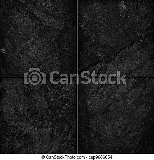 Stock de fotos de cuatro diferente m rmol negro textura for Piso marmol negro