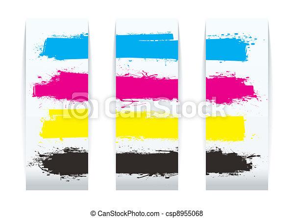 Papel de cuatro colores - csp8955068