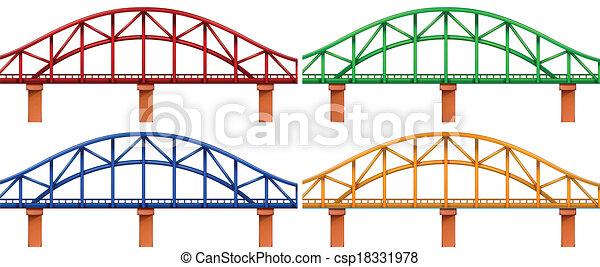 cuatro, puentes, colorido - csp18331978