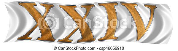 Cuatro Render Número 24 Bandera Romano Aislado Viginti Plano