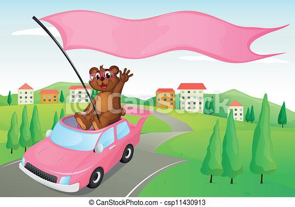 cub in a car - csp11430913