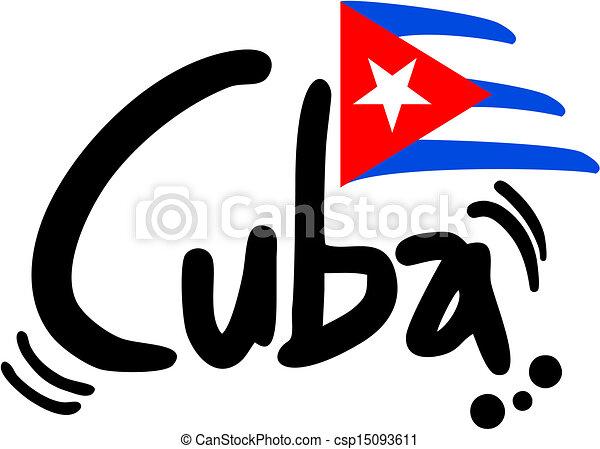 Cuba flag - csp15093611