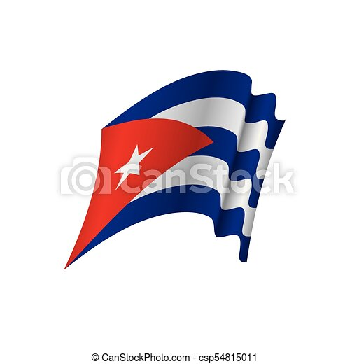 Lovely Cuba Flag, Vector Illustration