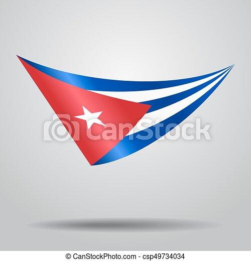 Cuban Flag Background. Vector Illustration.