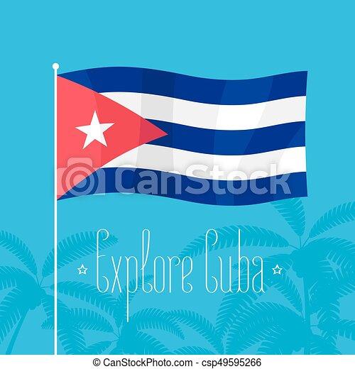 Cuban Flag Vector Illustration