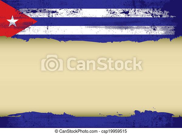Cuban Scratched Flag   Csp19959515