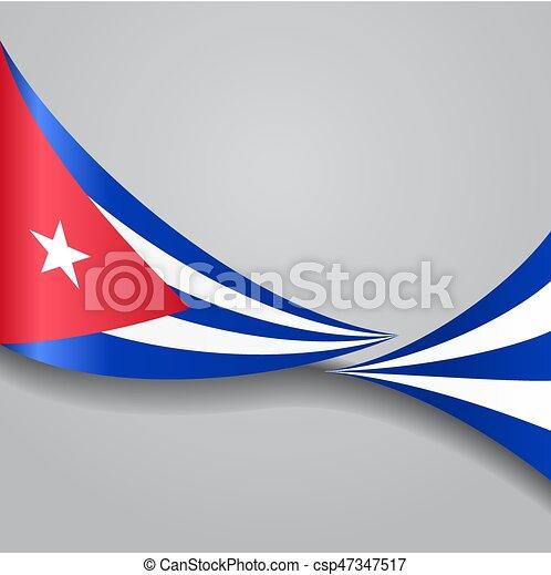 Cuban Wavy Flag. Vector Illustration.