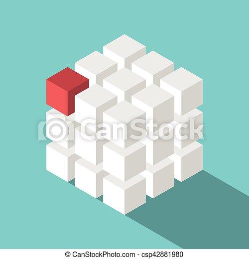 Cube assembled of blocks - csp42881980