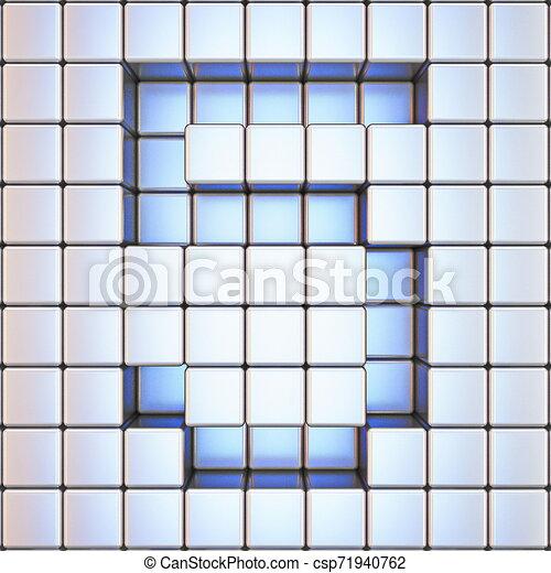 Cube grid Number 5 FIVE 3D - csp71940762