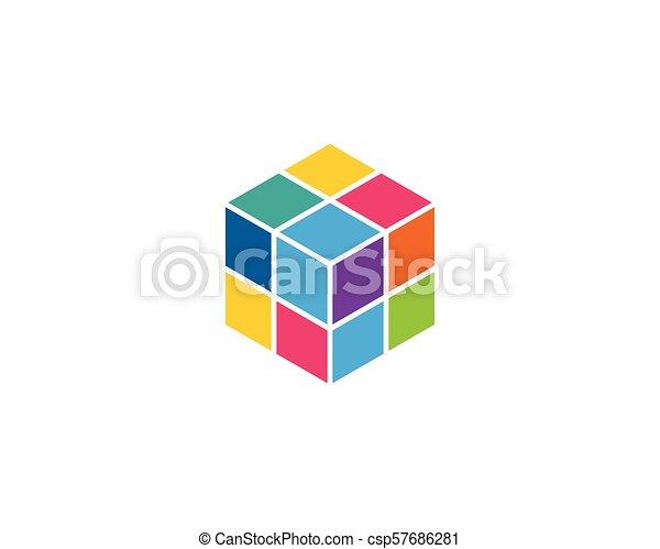 Cube Logo Template vector icon