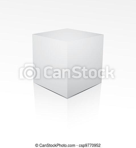 Cube on white background - csp9770952
